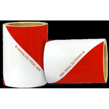 Kit de 2 bandes alternées blanc/rouge classe A - 14cm*9m